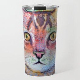 Olivia ... abstract pet animal cat kitty art Travel Mug