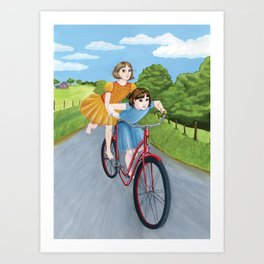 How Wilma and I Got Around Art Print