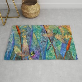 Colorful Dragonflies Rug