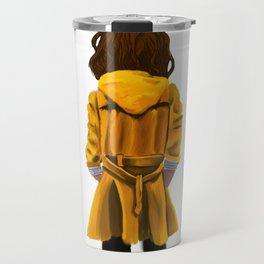 Yellow Rain Coat Travel Mug