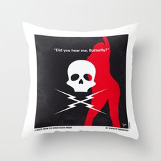 No018 My DeathProof minimal movie poster Throw Pillow