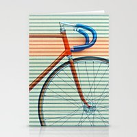 striped Stationery Cards featuring Standard Striped Bike by Fernando Vieira