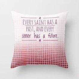 Saint Sinner Throw Pillow