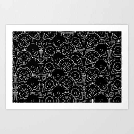 Black & white Idea Art Print