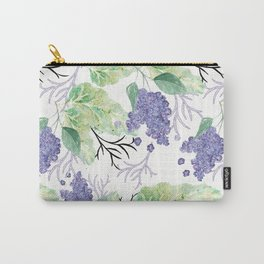 Lilac flowers on a white background. Carry-All Pouch