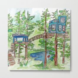 The Treehouse Metal Print