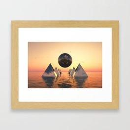 Silver Sphere Framed Art Print