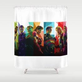 WPAP Avenger - Iron Man, Cap America, Thor, Black Widow, Hulk, Nick, Clint Shower Curtain