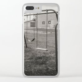 Old Playground, Kathryn, North Dakota Clear iPhone Case