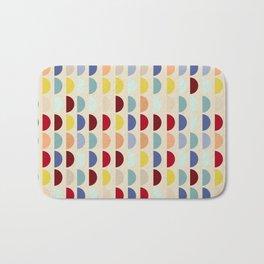 Semi circles multicolor geometric interior design Bath Mat