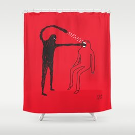 Mouth Shower Curtain