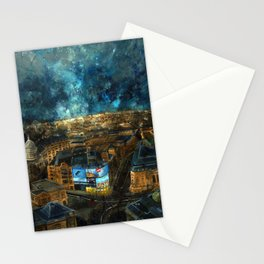 piccadilly Circus in the rain December 2010 Stationery Cards
