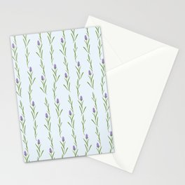 Modern artistic pastel blue lavender watercolor floral pattern Stationery Cards