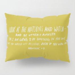 Habakkuk 1:5 x Mustard Pillow Sham