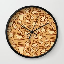 coffee background Wall Clock
