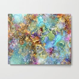 Mermaids Treasure Metal Print