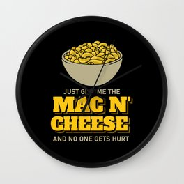Mac N' Cheese Pasta Macaroni Lover Gift Wall Clock