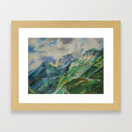 #34-Going to the Sun Road, Montana Framed Art Print