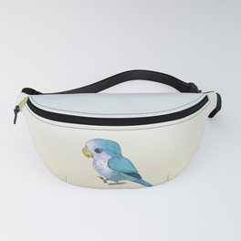 Very cute blue parrot Fanny Pack