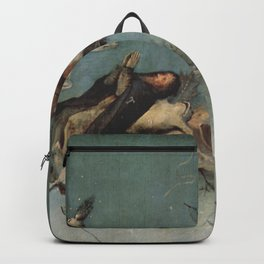 Hieronymus Bosch flying ships and creatures Backpack