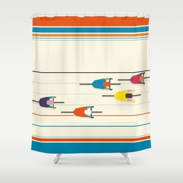 Never stop riding! Shower Curtain