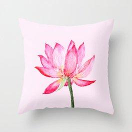 pink lotus flower Throw Pillow