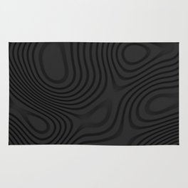 Organic Abstract 01 BLACK Rug