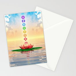 Sacred Lotus - The Seven Chakras First Edition Stationery Cards