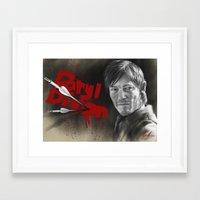 daryl dixon Framed Art Prints featuring Daryl Dixon by TheJustArts