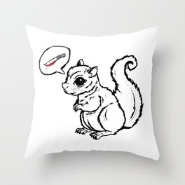 Murder on my mind (white) Throw Pillow