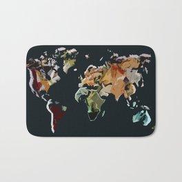 Abstract World Bath Mat