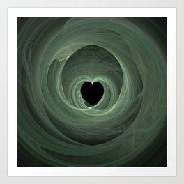 Valentine's Fractal II - Dark Art Print