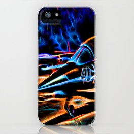 Neon Jet iPhone Case