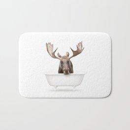 Moose in a Vintage Bathtub (c) Bath Mat