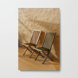A Pair of Chairs Metal Print
