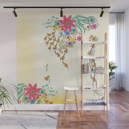 Vibrant Floral to Floral Wall Mural