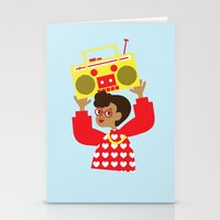 transistor Stationery Cards featuring Trini Transistor  by The Pairabirds