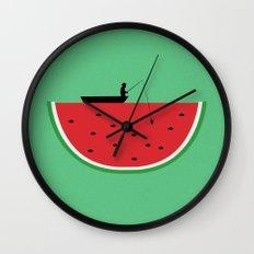 Watermelon Fisher Wall Clock
