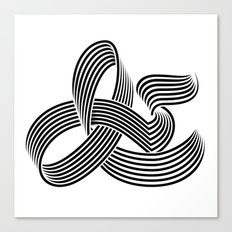 Eye bending Ampersand. Canvas Print