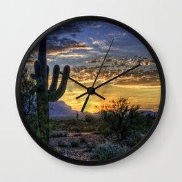 Sonoran Sunrise Wall Clock