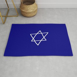 Star of David 17- Jerusalem -יְרוּשָׁלַיִם,israel,hebrew,judaism,jew,david,magen david Rug