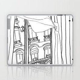 Window View in France  //  ink drawing Laptop & iPad Skin