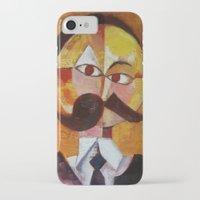 nietzsche iPhone & iPod Cases featuring Friedrich Nietzsche by Renee Bolinger