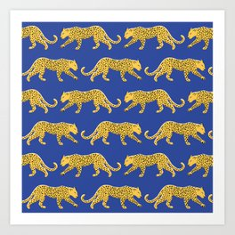 The New Animal Print - Blue Art Print