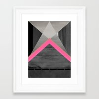pyramid Framed Art Prints featuring pyramid by Georgiana Paraschiv