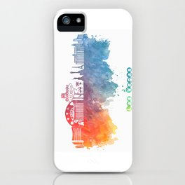 Las Vegas Nevada Skyline colored iPhone Case