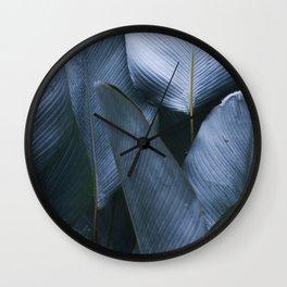 silver gray greens Wall Clock