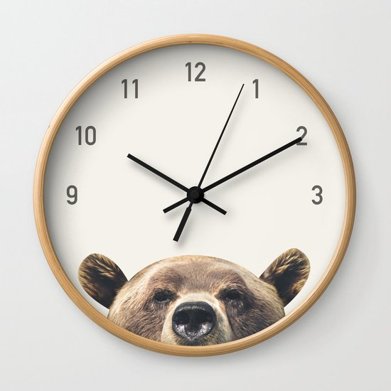 Bear Clock by colorandpatterns