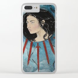Queen of Swords Clear iPhone Case