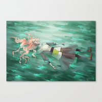 sister Canvas Prints featuring Sister by Dyru